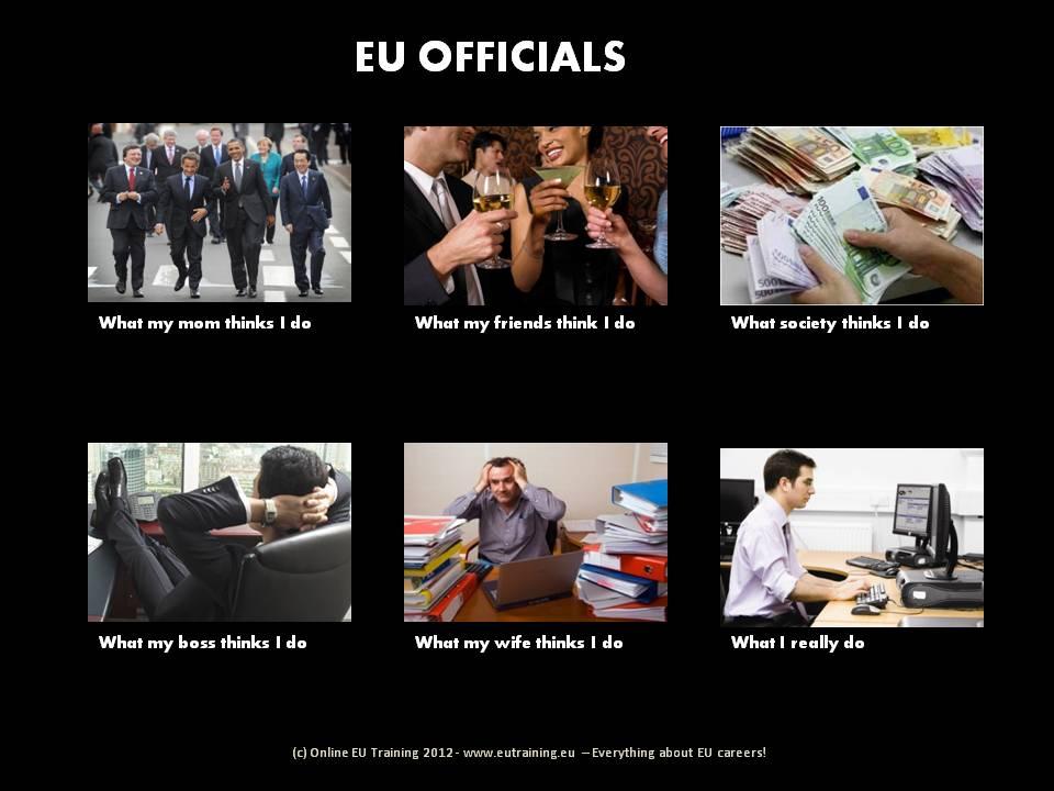 What EU officials do