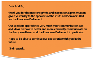 European Parliament Visitor Centre - Feedback