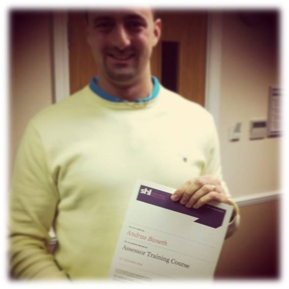SHL Certified Assessor in Manchester (November 2012)